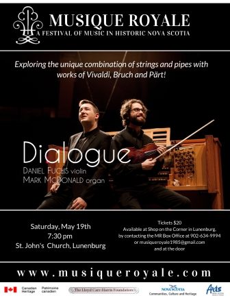 MUSIQUE ROYALE  presents Dialogue with Daniel Fuchs & Mark McDonald